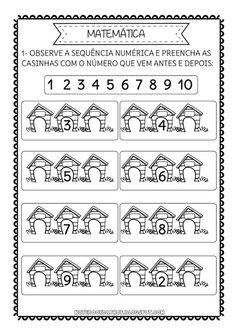 Conecte os pontos Complete a sequência Antes e depois Imagens Freepik Mais Educational Activities For Kids, Preschool Activities, Kids Learning, Teaching Numbers, Math Numbers, Kindergarten Math Worksheets, Preschool Math, Math For Kids, Lessons For Kids