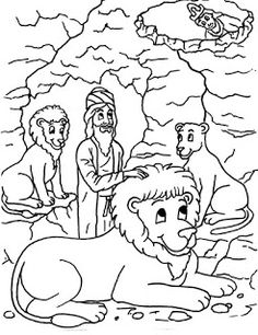 daniel and the lions den coloring pages