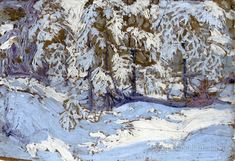 First Snow in Autumn by Tom Thomson