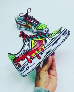 Check these🔥 Comment your shoe size below👇🏼 - custom sneakers by independent artists👟 📸: Custom Painted Shoes, Hand Painted Shoes, Custom Shoes, Customised Shoes, Dr Shoes, Hype Shoes, Cartoon Shoes, Nike Cartoon, Sneakers Fashion