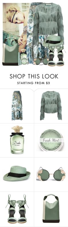 """Fresh Mint"" by cjfdesign ❤ liked on Polyvore featuring Etro, Drome, Dolce&Gabbana, Spitfire, TIBI, Marni, Spring, fringe and mint"