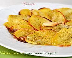 Patate croccanti al rosmarino e sale integrale-ricetta sfiziosissima