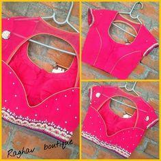 Blouse Back Neck Designs, Fancy Blouse Designs, Stylish Blouse Design, Designer Blouse Patterns, Blouse Models, Indian Designer Wear, Blouse Styles, Pattern Design, Sarees