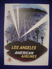 1950s American Airlines Los Angeles Travel Poster
