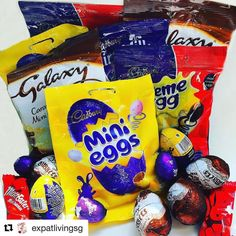 We thought the British team at @expatlivingsg might be missing some of their Easter favourites so we got in touch with our connections at Easter Bunny Towers and organised a special delivery Hope you're enjoying them ladies! . . . . #britishhappiness #expats #britishexpats #expatlife #expat #chocolate #easter #cadbury #cremeegg #minieggs #galaxy #food