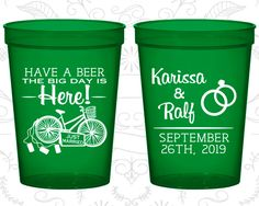 Wedding Cups, Personalized Cups, Wedding Cup, Personalized Plastic Cups, Stadium Cups, Party Cups, Plastic Cups (452)