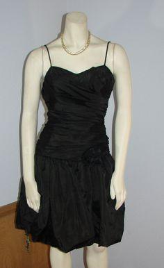 Vintage 80s Jay Jacobs Black Cocktail dress by TheScarletMonkey