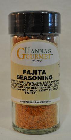 Mix of: Chili Powder, Salt, Paprika, Sugar, Arrowroot, Onion Powder, Garlic Powder, Cumin and Red Pepper. Slightly Spicy that adds a nice zest to your fajita
