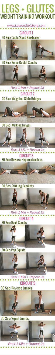 Week 4 Day 1 | Home  Gym Version | Legs   Glutes Weight Training Workout | #LGFitmas Lauren Gleisberg