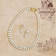 Product Code:JPH3531, Contact us on +91 9248036721.Ethereal Necklace & Earrings stringed together using white Pearls, yellow gold polished beads accomplish the Sunlit Feminine occasions. #krishnapearls #krishnapearlsjubileehills #pearlsets #pearlnecklaces #pearlnecklaceset #pearlnecklacedesigns#freshwaterpearlnecklace #freshwaterpearljewelry #freshwaterpearlearrings #naturalpearl #naturalpearls #purepearls #hyderabadipearls #pearldesigns #pearls #whitepearlnecklace #nizamipearls #necklacesets Pearl Necklace Designs, White Pearl Necklace, Pearl White, Pearl Set, Gold Polish, Feminine, Pure Products, Contemporary, Beads