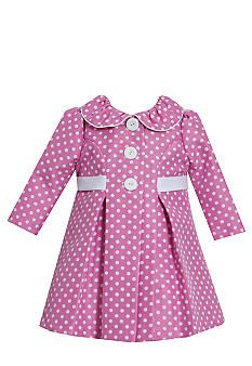 Bonnie Jean Baby Girls Pink Dotted Jacquard Spring Easter