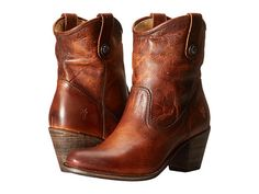 Frye Jackie Button Short Women's Dress Pull-on Boots Frye Boots, Bootie Boots, Ankle Booties, Best Motorcycle Boots, Cowboy Boot Outfits, Booties Outfit, Square Toe Boots, Comfortable Boots, Pull On Boots