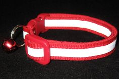 This Red Reflective Safety Cat Collar by The Perky Pet!  Reflective Breakaway collar for outdoor cats.