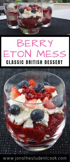 Berry Eton Mess - Classic British Dessert - Simple Cooking For Simple People Summer Desserts, Christmas Desserts, Easy Desserts, Delicious Desserts, Christmas Time, Hp Sauce, British Desserts, British Food Recipes, Scottish Desserts