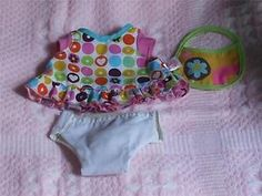 Original Baby Alive Outfit, Dress, Diaper and Bib Hard Plastic Doll