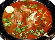How to Make Nihari Recipe Steps with Pictures) in Urdu & English Nihari Recipe, Food 52, Food Pictures, Food Styling, Thai Red Curry, Spinach, Food Photography, Food Porn, Ethnic Recipes