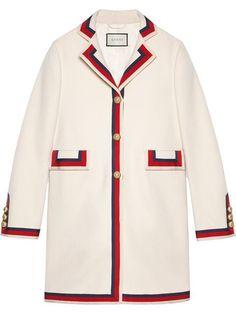 27d9b382b581 Gucci Embellished Sylvie Web Coat