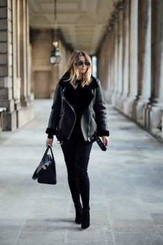 all black outfit, zara acne velocity jacket coat, Stuart Weitzman highland OTK suede boots, Givenchy Antigona bag