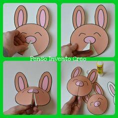 Pasqua: decorazione fai da te con Coniglietti da stampare e ritagliare
