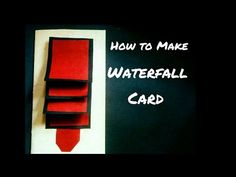 How to Make Waterfall Card | Waterfall Card for Scrapbook - YouTube