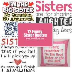 funny sister quotes pinterest hp