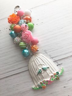Pretty Love Birds/Birdcage with beads Zipper Bag Charm/Keychain/car rearview mirror charm/bird lover/blue bird by MissMelsCottage on Etsy Diaper Bag Purse, Handmade Keychains, Car Rear View Mirror, Rakhi, Organza Gift Bags, Badge Holders, Zipper Bags, Key Chains, Phone Wallpapers