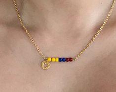 Gargantilla de Colombia, Colombian Necklace, Necklace, Colombian Flag, Bandera de Colombia. Colombian Accessories.