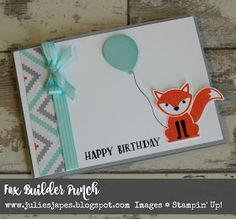Julie Kettlewell - Stampin Up UK Independent Demonstrator - Order products 24/7: Stamped Foxy