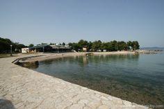 Der Strand im Camp in Zadar..