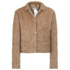 JIL SANDER $1,985 furry camel mohair blend coat four-button fuzzy jacket 36 NEW #JilSander #Mohair #Jacket