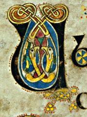 Book of Kells - initial letter U