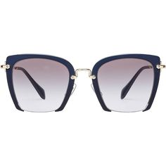 eaf0d6c72b Miu Miu Oversize Square Sunglasses ( 185) ❤ liked on Polyvore featuring  accessories