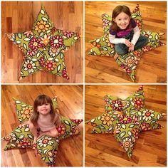 simple sewing tutorial: how to make a star pillow