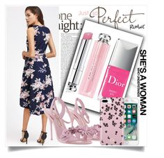 """dress"" by melani-mk ❤ liked on Polyvore featuring Christian Dior, Sophia Webster and Vera Bradley"