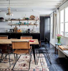 Inspiratieboost: een stylish vloerkleed onder de eettafel - Roomed