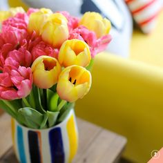 Yellow and pink tulips - from Mr. Color himself.