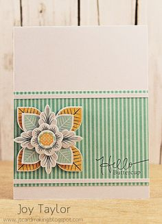 Less is More: Hello Buttercup! - Joy does magic with Lovely Layers, again...