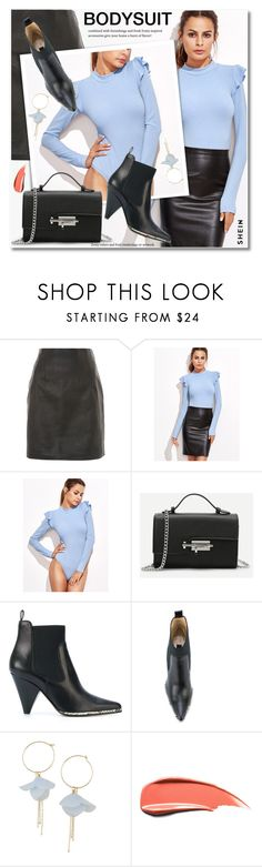 """""""Untitled #4022"""" by svijetlana ❤ liked on Polyvore featuring Topshop, Sergio Rossi, stripesonstripes and PatternChallenge"""