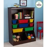 Books and toy storage for Thomas' room