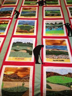 Fore Golf Craft Panel Fabric by Elizabeth's by Loriscountryfabrics ... : golf quilts - Adamdwight.com