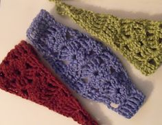 Crochet easy shell headband