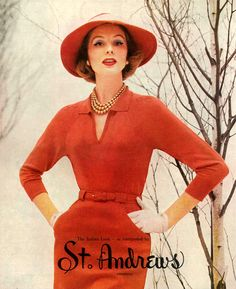 Suzy Parker for St. Andrews, 1956