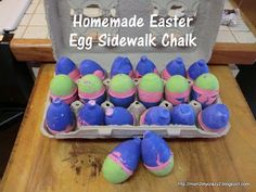 Running away? Ill help you pack.: Easter Egg Sidewalk Chalk