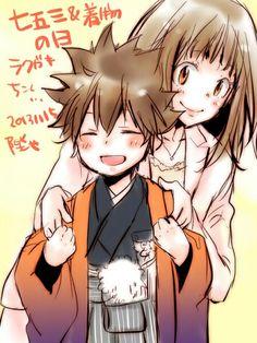 Tsuna and Nana ♥ ------> Happy Mother Day :)
