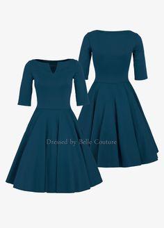Entdecke lässige und festliche Kleider: Basic Jerseykleid Audrey Herbst/Winter made by dressed by Belle Couture - Jerseykleider via DaWanda.com