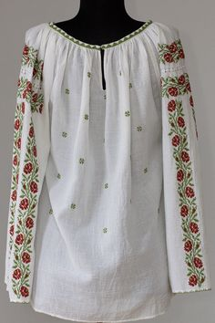 Ie Romaneasca Floriana - Chic Roumaine Folk Embroidery, Palestine, Handmade Clothes, Off Shoulder Blouse, Cross Stitch, Traditional, Tops, Women, Fashion