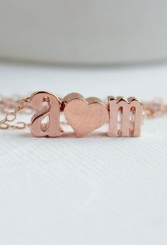 Love necklace Rose Gold Necklace Couples necklace