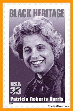 PATRICIA ROBERTS HARRIS (1924-1985) A former law professor, dean at Howard U. and 1st executive director of Delta Sigma Theta sorority, she became the first African-American woman to hold a U.S. ambassadorship (Luxembourg, 1965). Under Pres. Jimmy Carter, she became the first Black woman to serve in a cabinet post, named secretary of housing and urban development (HUD) in 1977, and secretary of health, education, and welfare (now HHS) in 1979. She was honored with a U.S. postage stamp in…