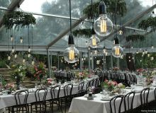 Amazing use of a clear roof marquee. Styling: cherish by bek burrows
