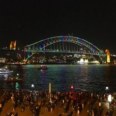 another quintessential #vividsydney #photograph #art #light #music #ideas @vividsydney #sydneyharbourbridge by 100thgallery http://ift.tt/1NRMbNv